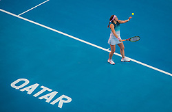 February 13, 2019 - Doha, QATAR - Jelena Ostapenko of Latvia in action during her second-round match at the 2019 Qatar Total Open WTA Premier tennis tournament (Credit Image: © AFP7 via ZUMA Wire)