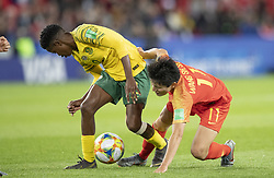Lebohang RAMALEPE (RSA), WANG Shanshan (CHN) in action during the match of 2019 FIFA Women's World Cup France group B match between South Africa and China, at Parc Des Princes stadium on June 13, 2019 in Paris, France. Photo by Loic Baratoux/ABACAPRESS.COM