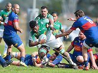 GEORGE, SOUTH AFRICA - SEPTEMBER 24: Arden Wesso of RSK Evergreens during the Gold Cup 2016 match between RSK Evergreens and Pirates at Pacaltsdorp Sports Ground on September 24, 2016 in George, South Africa. (Photo by Roger Sedres/Gallo Images)