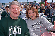 Tom Sothard and Daughter Mallory Sothard during Parents Weekend at Peden Stadium. © Ohio University / Photo by Rick Fatica
