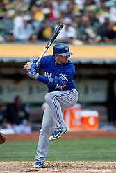 OAKLAND, CA - JULY 23:  Josh Donaldson #20 of the Toronto Blue Jays at bat against the Oakland Athletics during the third inning at O.co Coliseum on July 23, 2015 in Oakland, California. The Toronto Blue Jays defeated the Oakland Athletics 5-2. (Photo by Jason O. Watson/Getty Images) *** Local Caption *** Josh Donaldson