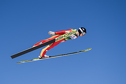 March 2, 2018 - Lahti, FINLAND - 180302 Einar LurÅ's Oftebro of Norway during a Ski jumping training session ahead of the FIS Nordic Combined World Cup on March 02, 2018 in Lahti. .Photo: Fredrik Varfjell / BILDBYRN / kod FV / 150068 (Credit Image: © Fredrik Varfjell/Bildbyran via ZUMA Press)