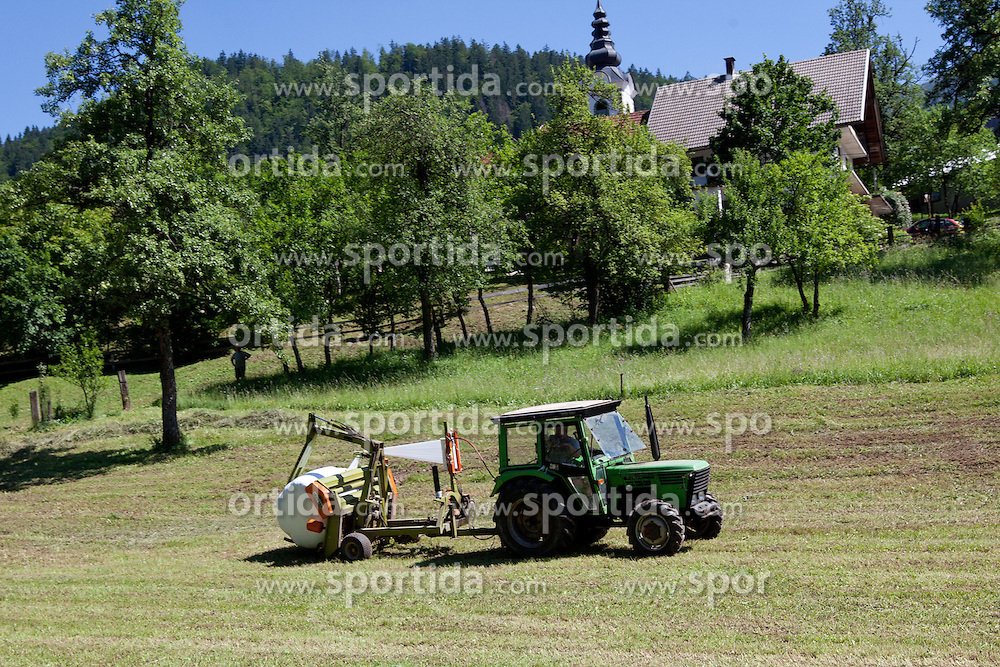 Tractor during 3rd Stage (219 km) at 19th Tour de Slovenie 2012, on June 16, 2012, in Skofja Loka, Slovenia. (Photo by Matic Klansek Velej / Sportida.com)