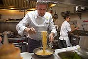 Michelin Star Chef Massimo Sola in a pasta competition for Pastificio di Martino Pasta in New York