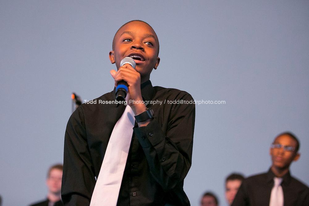 2/10/16 12:35:13 PM <br /> Chicago Children's Choir Black History Month Navy Pier Celebration. <br /> <br />  &copy; Todd Rosenberg Photography 2016