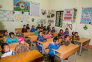 Class room in Cat Cat Village in the Muong Hoa valley near Sapa, Vietnam home to the black hmong tribe