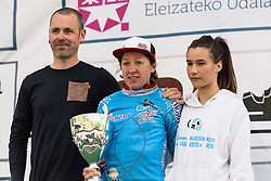 Anisha Vekemans (Lotto Soudal) is the new owner of the blue jersey - Emakumeen Bira 2016 Stage 3 - A 105 km road stage starting and finishing in Berriatua, Spain on 16th April 2016.