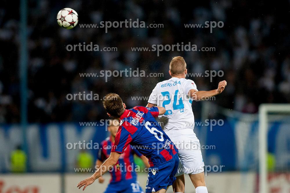 during football match between HNK Rijeka and HNK Hajduk Split in 11th Round of Prva Hrvaska Nogometna Liga MaxTV 2013/14 on September 28, 2013 in Stadion Kantrida, Rijeka, Croatia. (Photo By Urban Urbanc / Sportida.com)