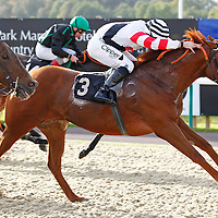 Al Aqabah and N Callan winning the 3.00 race