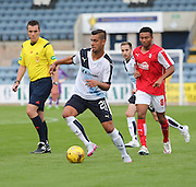 Luka Tankulic goes away from Rotherham United's Grant Ward - Dundee v Rotherham United - pre-season friendly at Dens Park <br /> <br />  - &copy; David Young - www.davidyoungphoto.co.uk - email: davidyoungphoto@gmail.com