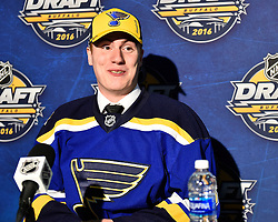 Evan Fitzpatrick of the Sherbrooke Phoenix was selected by the St. Louis Blues at the 2016 NHL Draft in Buffalo, NY on Saturday June 25, 2016. Photo by Aaron Bell/CHL Images