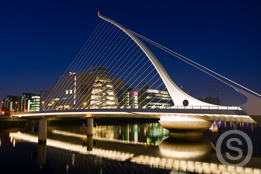 Photographer: Paul Lindsay Samuel Beckett Bridge, Dublin