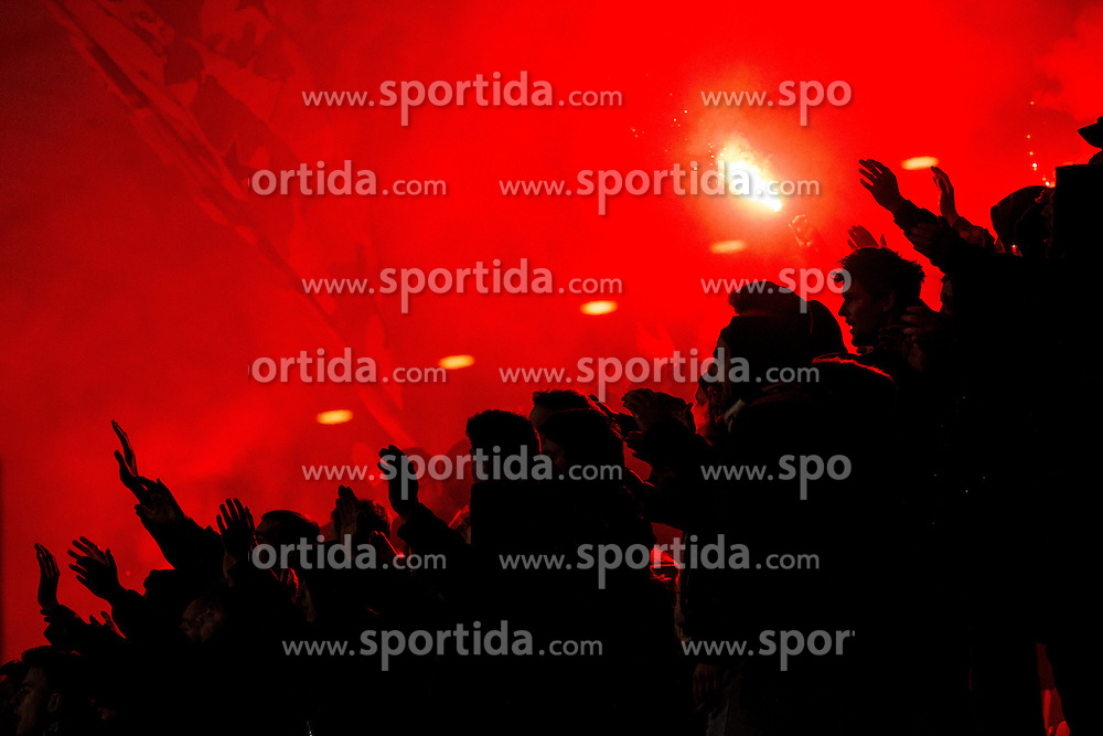 Viole, fans of Maribor during football match between NK Maribor and NK Celje in 23rd Round of Prva liga Telekom Slovenije 2015/16, on February 27, 2016 in Stadium Ljudski vrt, Maribor, Slovenia. Photo by Vid Ponikvar / Sportida