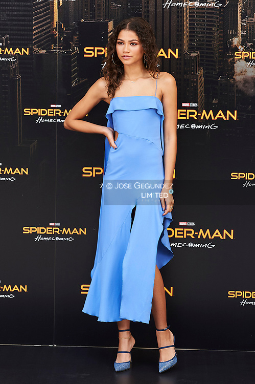 Zendaya attends a photocall for 'Spider-Man: Homecoming' at the Villa Magna Hotel on June 14, 2017 in Madrid, Spain.