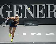 Dominika Cibulkova (SVK) during the semi finals of the WTA Generali Ladies Linz Open at TipsArena, Linz<br /> Picture by EXPA Pictures/Focus Images Ltd 07814482222<br /> 15/10/2016<br /> *** UK &amp; IRELAND ONLY ***<br /> <br /> EXPA-REI-161015-5001.jpg