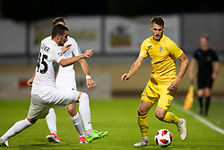 Robert Pusaver of NK Rudar Velenje and Lovro Bizjak of Domzale during football match between NK Domzale and NK Rudar in Round #2 of Prva liga Telekom Slovenije 2018/19, on April 29, 2018 in Sports Park Domzale, Domzale, Slovenia. Photo by Urban Urbanc / Sportida