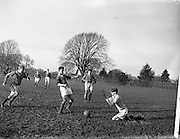 23/02/1957<br /> 02/22/1957<br /> 23 February 1957 <br /> Soccer: Queens University v U.C.C., FInal of the Collingwood Cup at Belfield, Dublin.