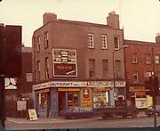 Old Dublin Amature Photos August 1983 WITH, Regans Pub, Behind Guinnesses, Canal, Four Seasons Pub, Bolton St, Henrietta Place, Dominic St, Tobacco Distributors Pearse St, James St, Grand Canal, Harolds St, Kevin St, The Orchard Kilmainham Irishtown, H.C. Autocraft motor factors,