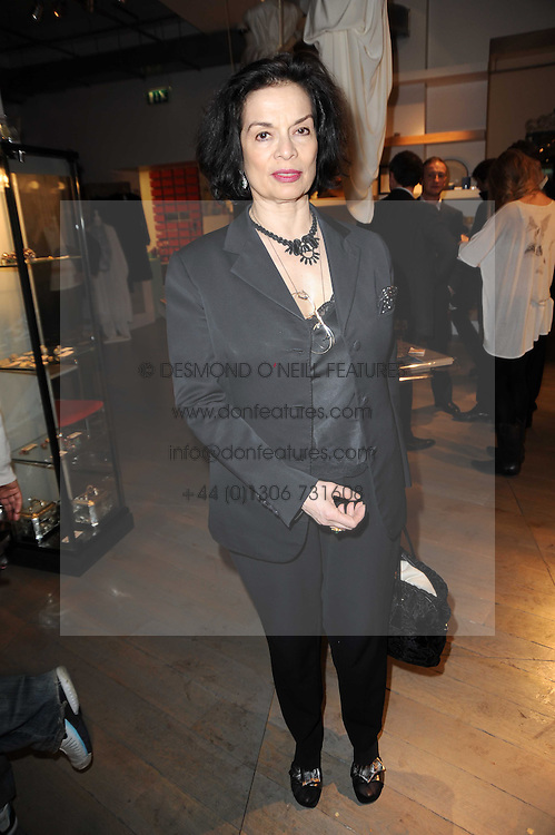 BIANCA JAGGER at reception to raise funds for a Ugandan School Project supported by the Henry van Straubenzee Memorial Fund held at Few & Far, 242 Brompton Road, London SW3 on 11th February 2010.
