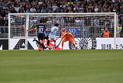 May 20, 2018 - Rome, Italy - Felipe Anderson score goal 2-1 during the Italian Serie A football match between S.S. Lazio and F.C. Inter at the Olympic Stadium in Rome, on may 20, 2018. (Credit Image: © Silvia Lore/NurPhoto via ZUMA Press)