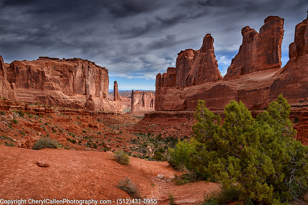 Arches National Park on a overcast day.
