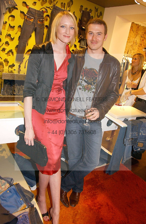 Model  JADE PARFITT and TOBY BURGESS  at the opening of the new Diesel shop at 130 New Bond Street, London W1 on 18th May 2006.<br />
