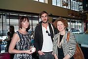 PARIS NEILSON; OSCAR HUMPHRIES; ELIZABETH ANN MCGREGOR, Brunch to celebrate the launch of Art HK 11. Miss Yip Chinese Cafe. Meridian ave,  Miami Beach. 3 December 2010. -DO NOT ARCHIVE-© Copyright Photograph by Dafydd Jones. 248 Clapham Rd. London SW9 0PZ. Tel 0207 820 0771. www.dafjones.com.