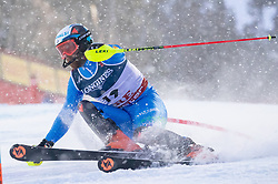 11.02.2019, Aare, SWE, FIS Weltmeisterschaften Ski Alpin, alpine Kombination, Herren, Slalom, im Bild Riccardo Tonetti (ITA) // Riccardo Tonetti of Italy reacts after the Slalom competition of the men's alpine combination for the FIS Ski World Championships 2019. Aare, Sweden on 2019/02/11. EXPA Pictures © 2019, PhotoCredit: EXPA/ Johann Groder