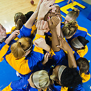 11/11/11 Newark DE: The University of Delaware Women's basketball team prepare to take the floor against  Rhode Island, Friday, Nov. 11, 2011 at the Bob carpenter center in Newark Delaware...Delaware would go on to defeat the Rhode Island rams 89-53...Special to The News Journal/SAQUAN STIMPSON