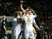 Goal celebration by Pontus Jansson of Leeds United  during the EFL Sky Bet Championship match between Leeds United and Aston Villa at Elland Road, Leeds, England on 1 December 2017. Photo by Paul Thompson.