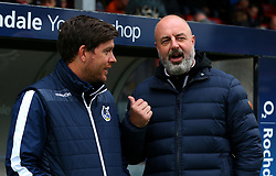 Rochdale manager Keith Hill and Bristol Rovers manager Darrell Clarke talk with each other - Mandatory by-line: Robbie Stephenson/JMP - 21/10/2017 - FOOTBALL - Crown Oil Arena - Rochdale, England - Rochdale v Bristol Rovers - Sky Bet League One