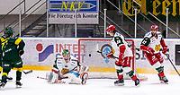 2019-12-02 | Umeå, Sweden:Close to 1-0 in  HockeyAllsvenskan during the game  between Björklöven and Mora at A3 Arena ( Photo by: Michael Lundström | Swe Press Photo )<br /> <br /> Keywords: Umeå, Hockey, HockeyAllsvenskan, A3 Arena, Björklöven, Mora, mlbm191202