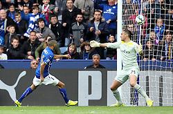 Leicester City's Riyad Mahrez scores his second goal - Photo mandatory by-line: Robbie Stephenson/JMP - Mobile: 07966 386802 - 09/05/2015 - SPORT - Football - Leicester - King Power Stadium - Leicester City v Southampton - Barclays Premier League