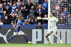 Leicester City's Riyad Mahrez scores his second goal - Photo mandatory by-line: Robbie Stephenson/JMP - Mobile: 07966 386802 - 09/05/2015 - SPORT - Football - Leicester - King Power Stadium - Leicester City v Southampton - Barclays Premier League