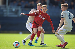KIRKBY, ENGLAND - Saturday, August 31, 2019: Liverpool's Jack Cain during the Under-18 FA Premier League match between Liverpool FC and Manchester United at the Liverpool Academy. (Pic by David Rawcliffe/Propaganda)