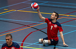 20-04-2019 NED: Dirk Kuyt Foundation Cup, Veenendaal<br /> National Cup sitting volleyball in Veenendaal / ZVH, Tom Poortman #1