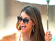 Maria Menounos appears in the IPL 500 Festival Parade during Indy 500 activities in Indianapolis, IN.