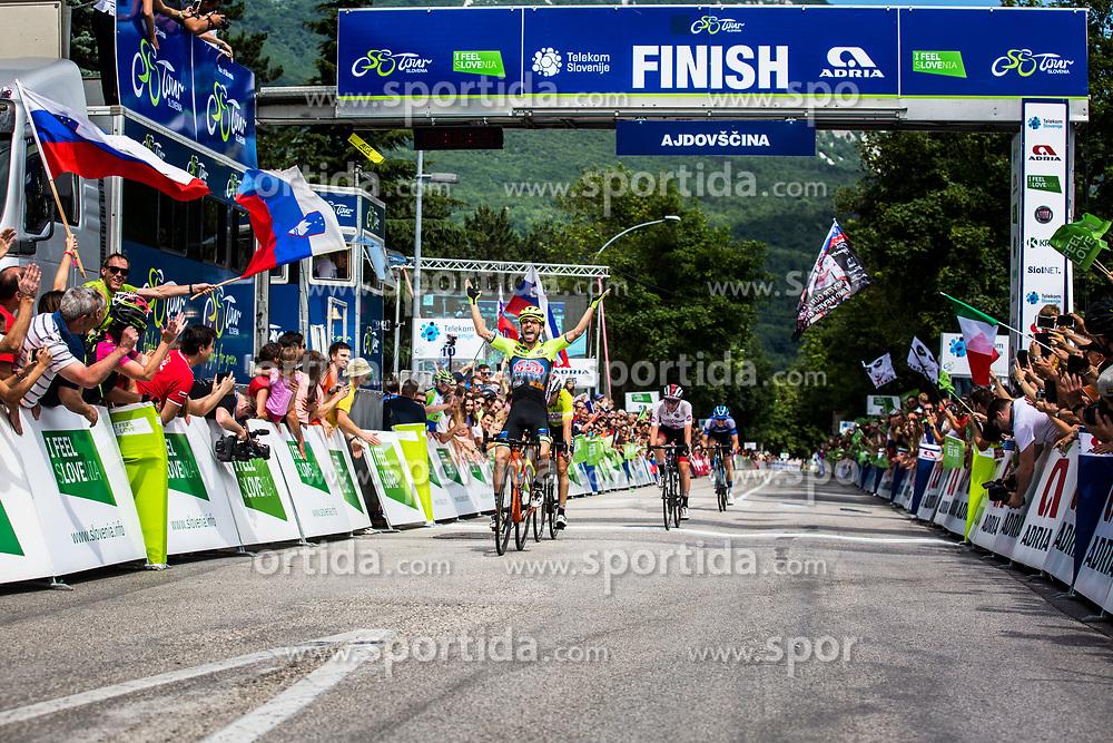 Giovanni Visconti (ITA) of Neri Sottoli Selle Italia KTM celebrates 4th Stage of 26th Tour of Slovenia 2019 cycling race between Nova Gorica and Ajdovscina (153,9 km), on June 22, 2019 in Slovenia. Photo by Vid Ponikvar / Sportida