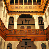 Architecture in Fes el Bali at Fez, Morocco <br />
