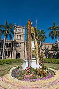 King Kamehameha Statue with lei, Honolulu, Oahu, Hawaii Oahu, Hawaii