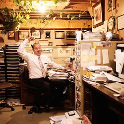 Mark Gietzen, an American pro-life activist, in his home's basement in Wichita, KS. 2009, June 19th. Photo: Antoine Doyen