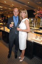 PEREGRINE & CAROLINE ARMSTRONG-JONES at an evening of private shopping in aid of Elizabeth Fitzroy Support at Tiffany & Co, 145 Sloane Street, London on 14th May 2008.<br /><br />NON EXCLUSIVE - WORLD RIGHTS