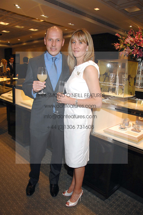PEREGRINE &amp; CAROLINE ARMSTRONG-JONES at an evening of private shopping in aid of Elizabeth Fitzroy Support at Tiffany &amp; Co, 145 Sloane Street, London on 14th May 2008.<br />