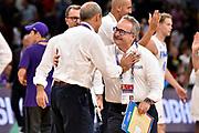 Stefano Pino Sacripanti, Ettore Messina<br /> Nazionale Italiana Maschile Senior<br /> Eurobasket 2017 - Final Phase - Round of 16<br /> Finlandia Italia Finland Italy<br /> FIP 2017<br /> Istanbul, 09/09/2017<br /> Foto M.Ceretti / Ciamillo - Castoria