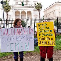 Rete No War manifesta contro Arabia Saudita