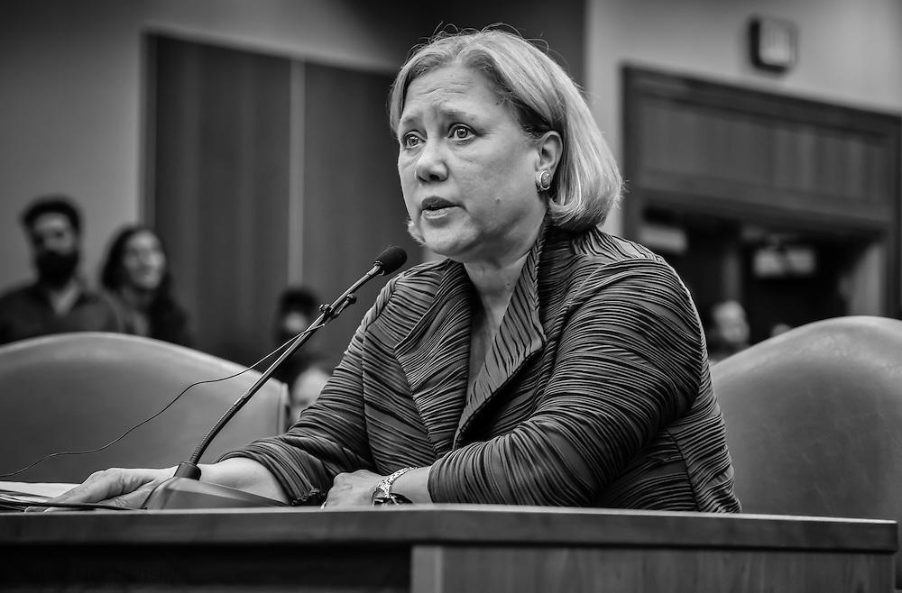 Former U.S. Senator Mary Landrieu, testifieng on behalf of Energy Transfer Partners at a permit hearing for the Bayou Bridge pipeline.