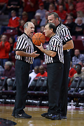 03 December 2016:  Bob Staffen, Tom O'Neill and Brad Ferrie during an NCAA  mens basketball game between the New Mexico Lobos the Illinois State Redbirds in a non-conference game at Redbird Arena, Normal IL
