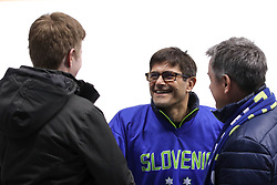 GANGNEUNG, SOUTH KOREA - FEBRUARY 17: Natasa Pagon, linesman of Slovenia with Matjaz Rakovec, president of HZS, and Zoran Pahor during the ice hockey match between Slovenia and Slovakia in  the Preliminary Round on day eight of the PyeongChang 2018 Winter Olympic Games at Kwangdong Hockey Centre on February 17, 2018 in Gangneung, South Korea. Photo by Kim Jong-man / Sportida