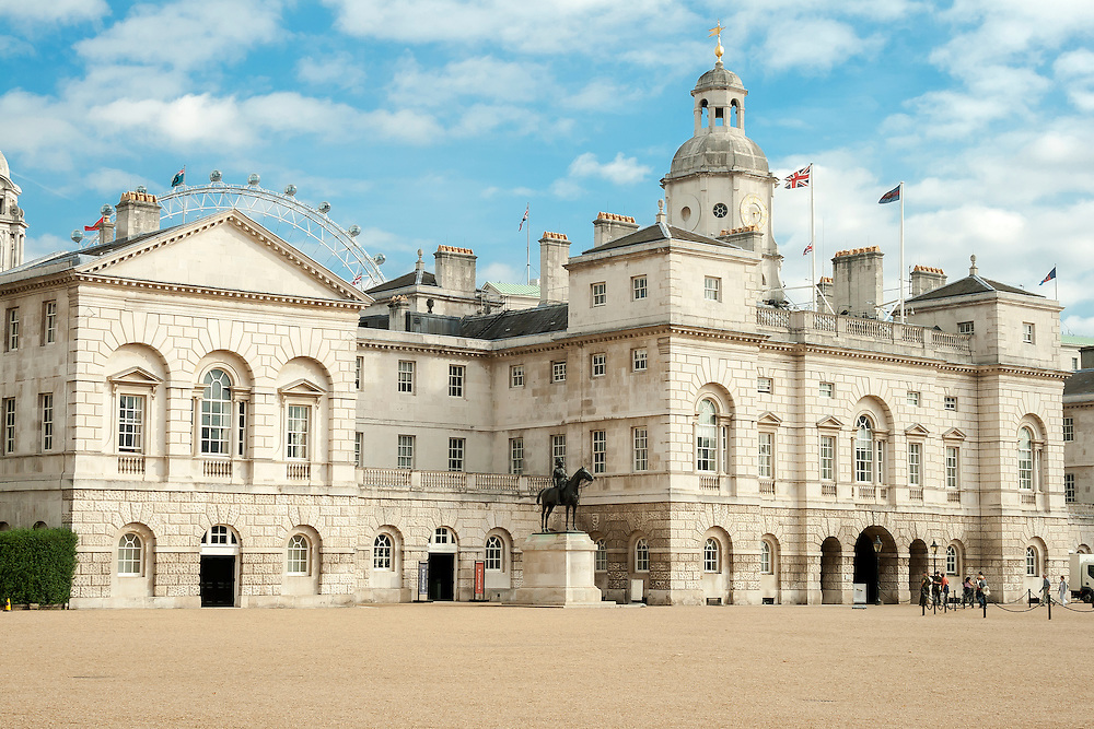 Horse Guards Parade is a large parade ground off Whitehall in central London. It  was formerly the site of the Palace of Whitehall's tiltyard, where tournaments (including jousting) were held in the time of Henry VIII. It was also the scene of annual celebrations of the birthday of Queen Elizabeth I. The area has been used for a variety of reviews, parades and other ceremonies since the 17th century.