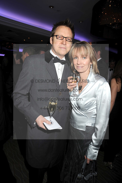 SIMON MAYO and his wife HILARY at the 2008 Costa Book Awards held at the Intercontinental Hotel, Hamilton Place, London on 27th January 2009.